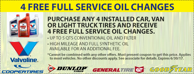 4 FREE Full Service Oil Changes