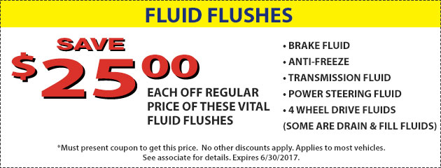 SAVE $25 on fluid flushes