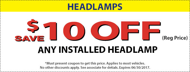 $10 OFF Headlamps