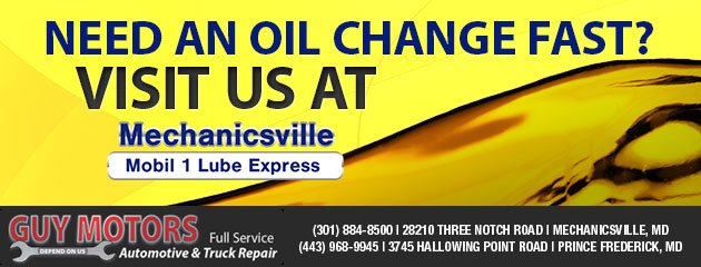 Need an oil change fast?