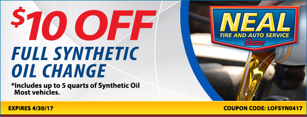 $10.00 off full synthetic oil change