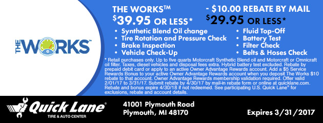 THE WORKS™ $39.95 or less!