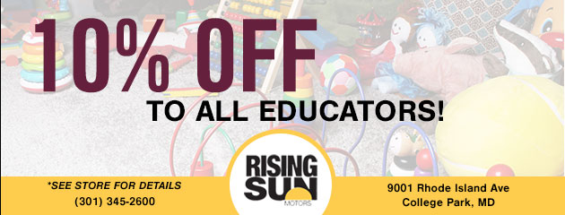10% Off To All Educators