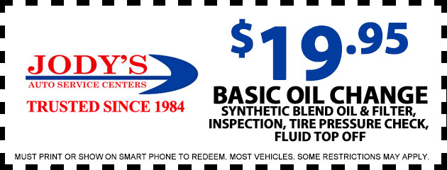 $19.95 Basic Oil Change