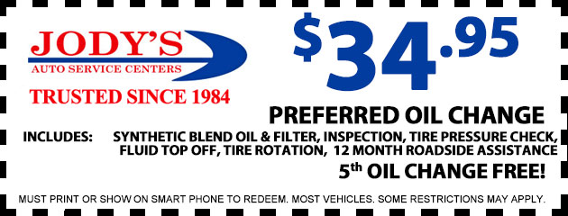 $34.95 Preferred Oil Change