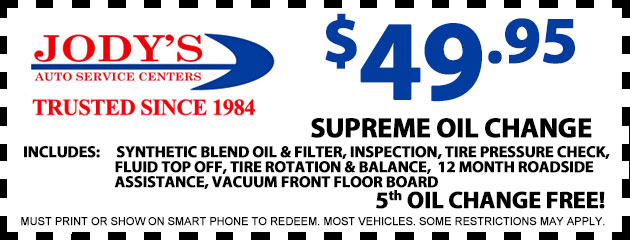 $49.95 Supreme Oil Change
