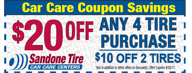 $20 Off Any 4 Tire Purchase