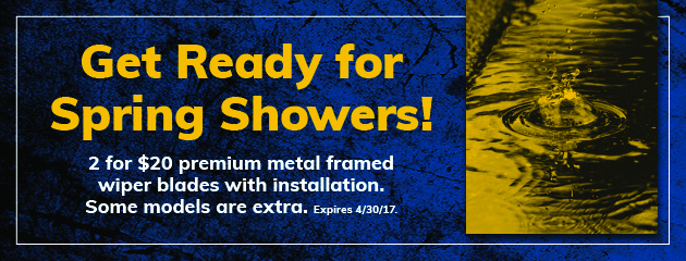 Get Ready For Spring Showers!
