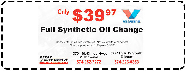 $39.97 Full Synthetic OIl Change
