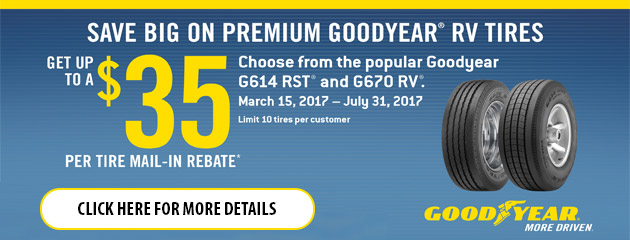 Goodyear RV Rebate