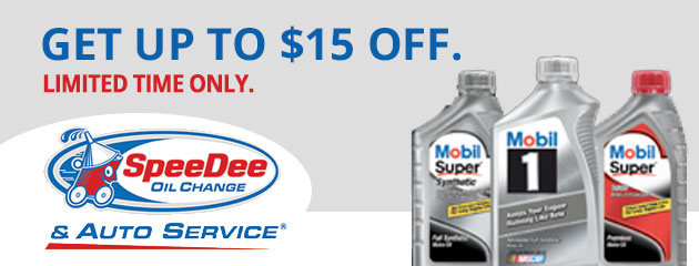Get Up to $15 OFF Mobil 1 Oil Change