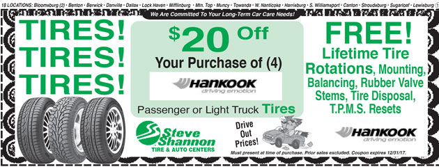 20 off hankook tires