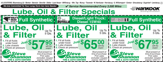 more lube oil filter changes