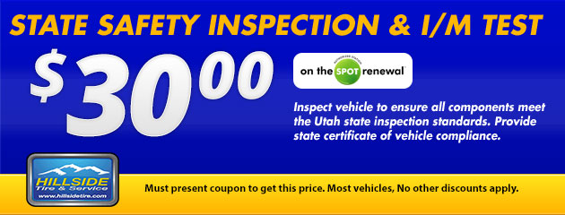 $30 State Safety Inspection & I/M Test
