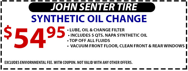 Synthetic Oil Change- $54.95