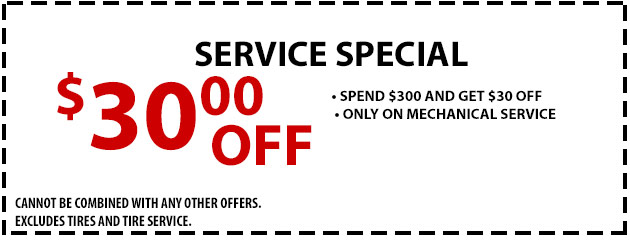 Service Special- $30 OFF