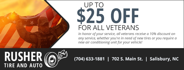 Up To $25 Off For All Veterans