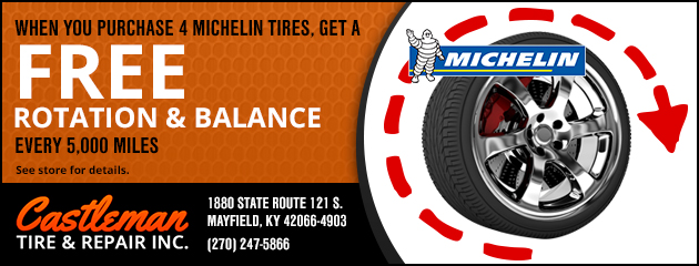 Free Rotation and Balance with Purchase of 4 MIchelin Tires