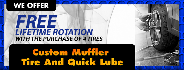 FREE Lifetime Rotation with the purchase of 4 tires