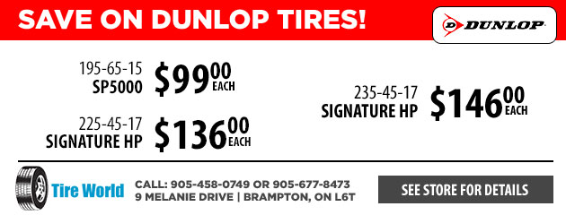 Save on Dunlop Tires!