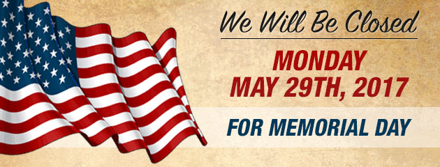 Memorial Day Hours