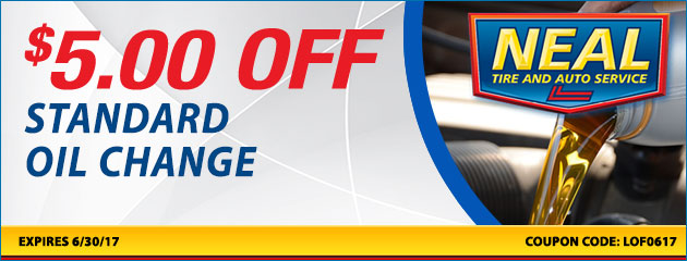 $5.00 off standard oil change