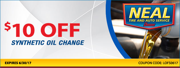 $10.00 off synthetic oil change