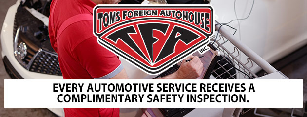 Complimentary Safety Inspection with every auto service