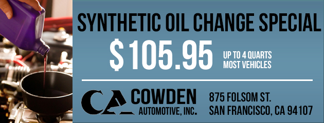$105.95 Synthetic Oil Change Special
