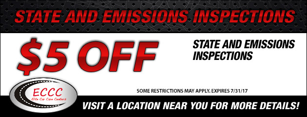 $5 Off State and Emissions Inspections