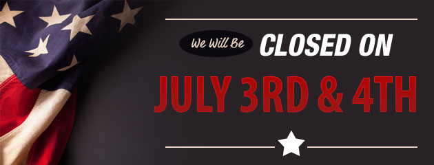 Closed for July 4th