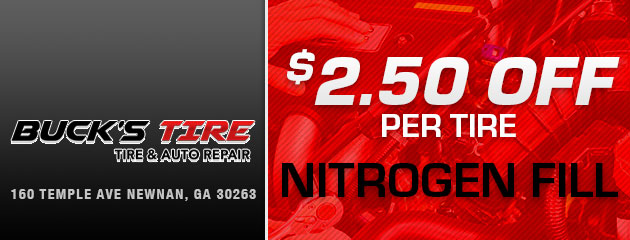 $2.50 OFF Per Tire Nitrogen Fill Special