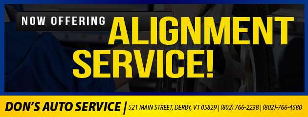 Now offering Alignment Service!
