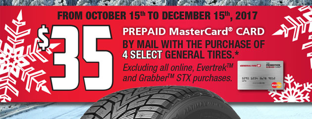 General Canada $35 Rebate on 4 Select Tires
