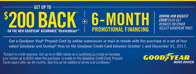 Goodyear CC Get Up to $200 Back On Select Tires