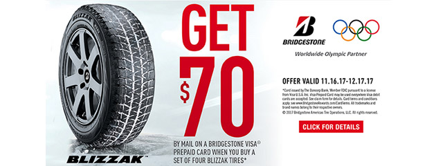 Bridgestone $70 Rebate