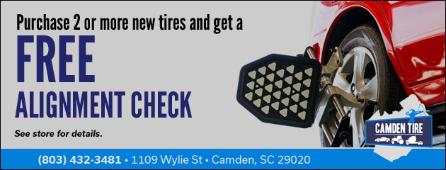 Free Alignment Check With Purchase of 2 or More Tires