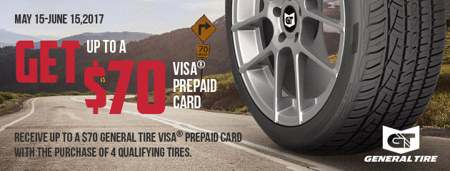 General Tire Up to $70 Rebate