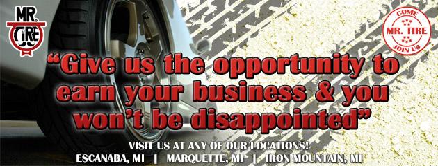 Mr Tire Locations >> Mr Tire Tires Auto Repair Escanaba Marquette Iron Mountain Mi