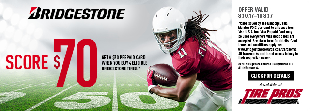 Tire Pros - Bridgestone $70 Rebate