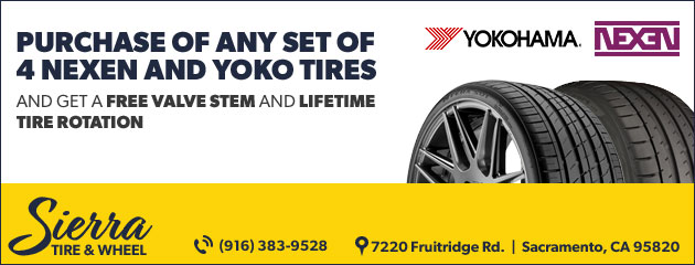 Free Valve Stem and Rotation With Tire Purchase