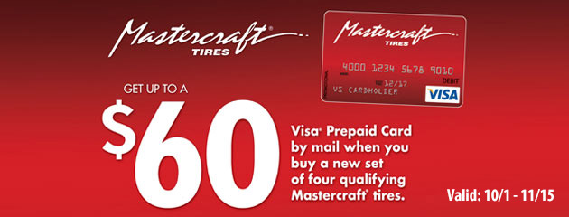 Mastercraft Up to $60 On Select Mastercraft Tires