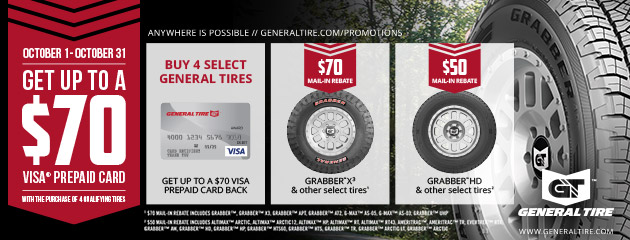 General Tire Get up to $70 Rebate