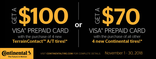 Continental - Up to $100 Visa Prepaid Card