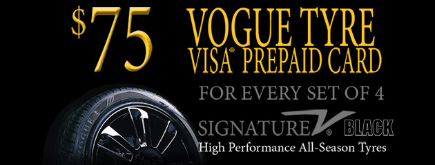 Vogue Tyre - $75 Mail-In Rebate