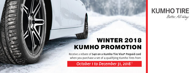 Kumho Canada - $40 Rebate on Select Tires