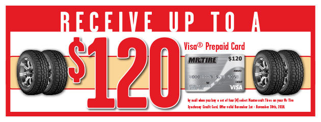 Mr.Tire - Mastercraft Up to $120 Visa Prepaid Card