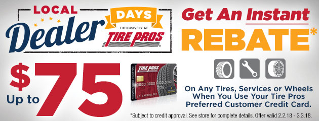 Tire Pros - Up to $75 Instant Rebate