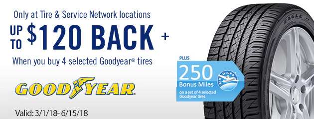 Goodyear TSN Canada Up to $120 on Select Tires