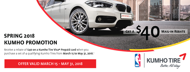 Kumho Canada - $40 Mail-In Rebate